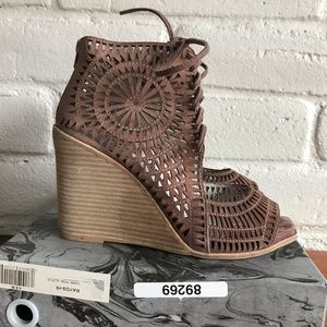 Jeffrey Campbell Rayos High Wedge Pink Dusty Rose